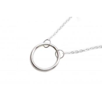 Collar de plata círculo del karma 45cm