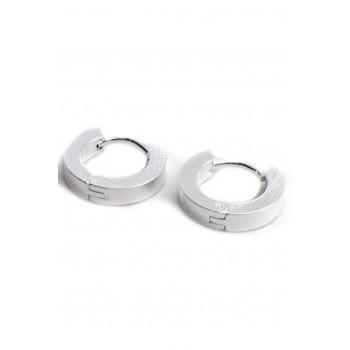 Aros de acero plateado argolla cinta 3mm 13mm