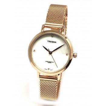 Reloj Tressa dama malla tejida rosse 30mm