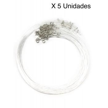 Tanza de plata X 5 Unidades