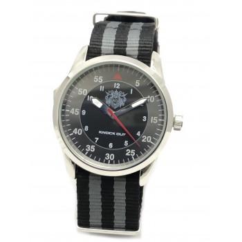 Reloj malla tela negro centro negro 41mm