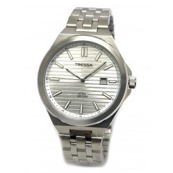 Reloj tressa acero fondo blanco 40mm
