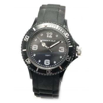 Reloj caucho negro centro negro 39mm