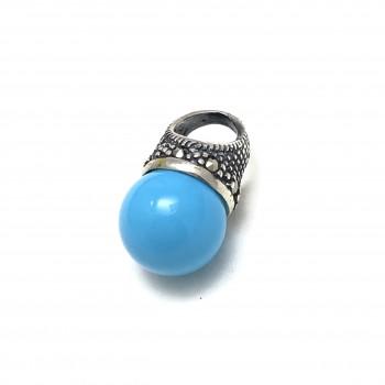 Dije lady di perla turquesa 18mm