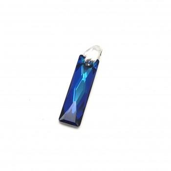 Dije baguette azul 25mm