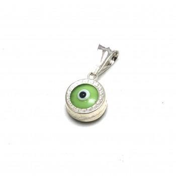 Dije ojito verde manzana 10mm