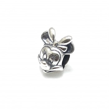Dije de Plata minnie pasante 12mm