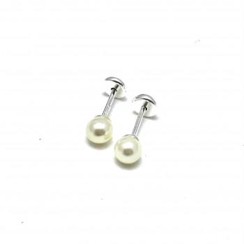 Aros de Plata abridores perla 4mm