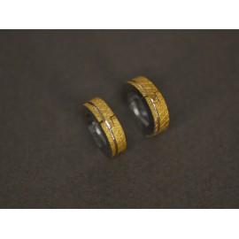 Aros de Acero argollitas doradas 4mm