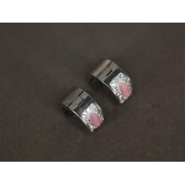 Aros de Acero argollitas con gota asterismo 13mm