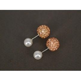 Aros de Plata dior perla con poxi 8mm 12mm