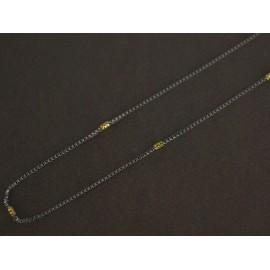 Cadena de Acero veneciana con duble 45cm 1mm