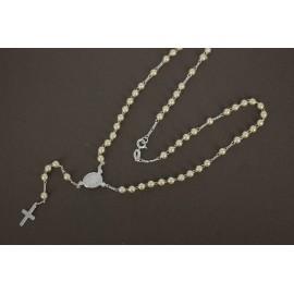 Rosario de Plata perlas 3mm 45cm