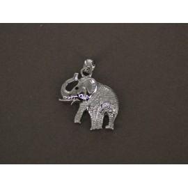 Dije de Acero Elefante labrado 28mm de alto