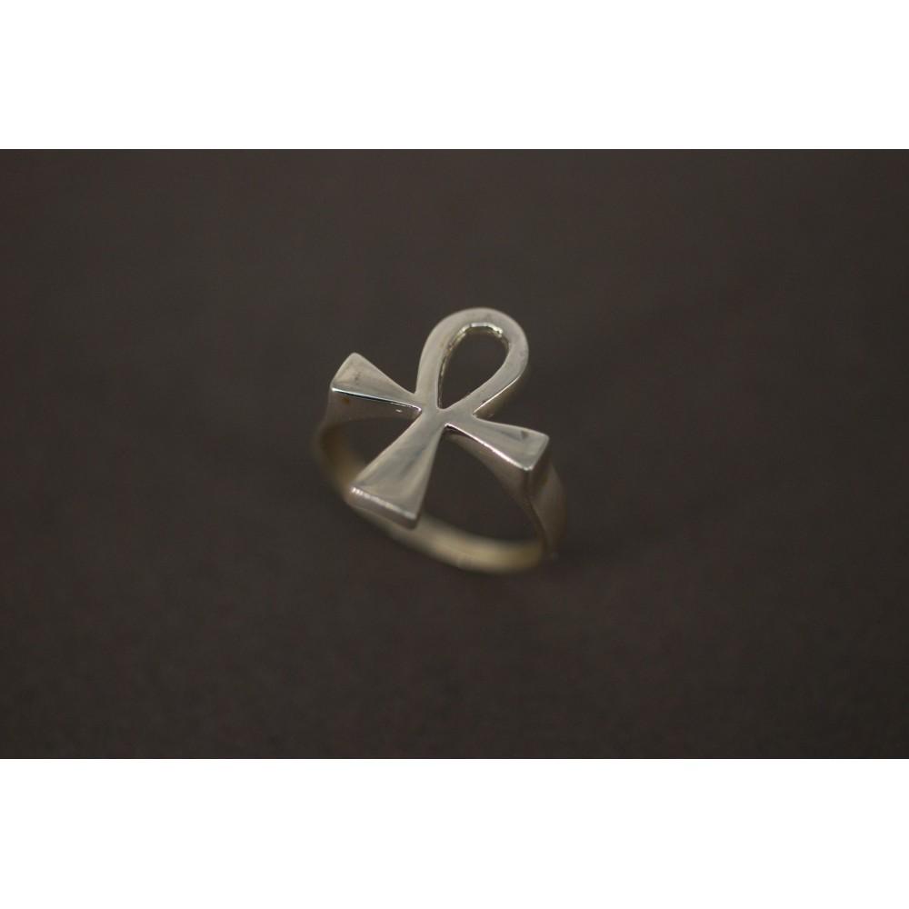 c7df693acd94 Anillo de Plata cruz de la vida - Giovanni Joyas