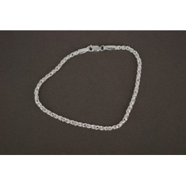 Pulsera de Plata cordón 3mm 20cm