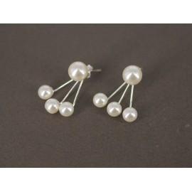 Aros de Plata araña perlas 8mm y 5mm