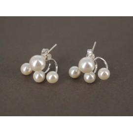 Aros de Plata araña perlas 7mm y 5mm
