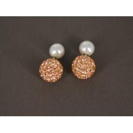 9beb36d51b3e Aros de Plata dior perla 6mm poxi ambar 10mm